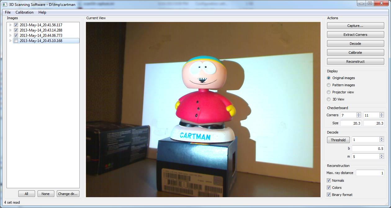 Projector-Camera Calibration / 3D Scanning Software
